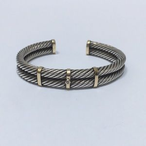 Sterling and 14k Gold bracelet with a Diamond